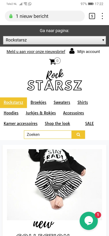 50% korting op alles bij Rockstarz
