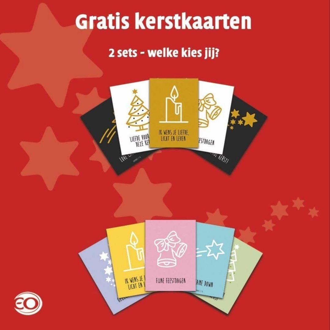 Vraag een gratis setje kerstkaarten vóór 16 dec aan via EO