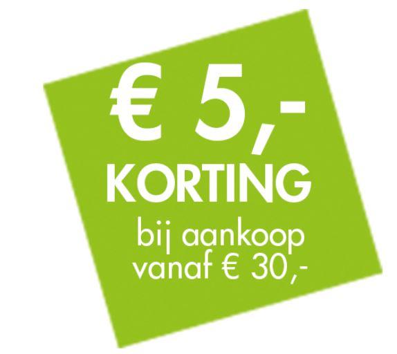 Met code €5 korting (va €30) @ CASA