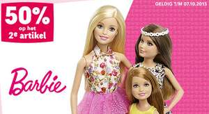 50% korting op het 2de artikel van Barbie, Monster High en Ever After High
