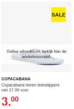Copacabana heren teenslippers --> Van 21,99 voor €3