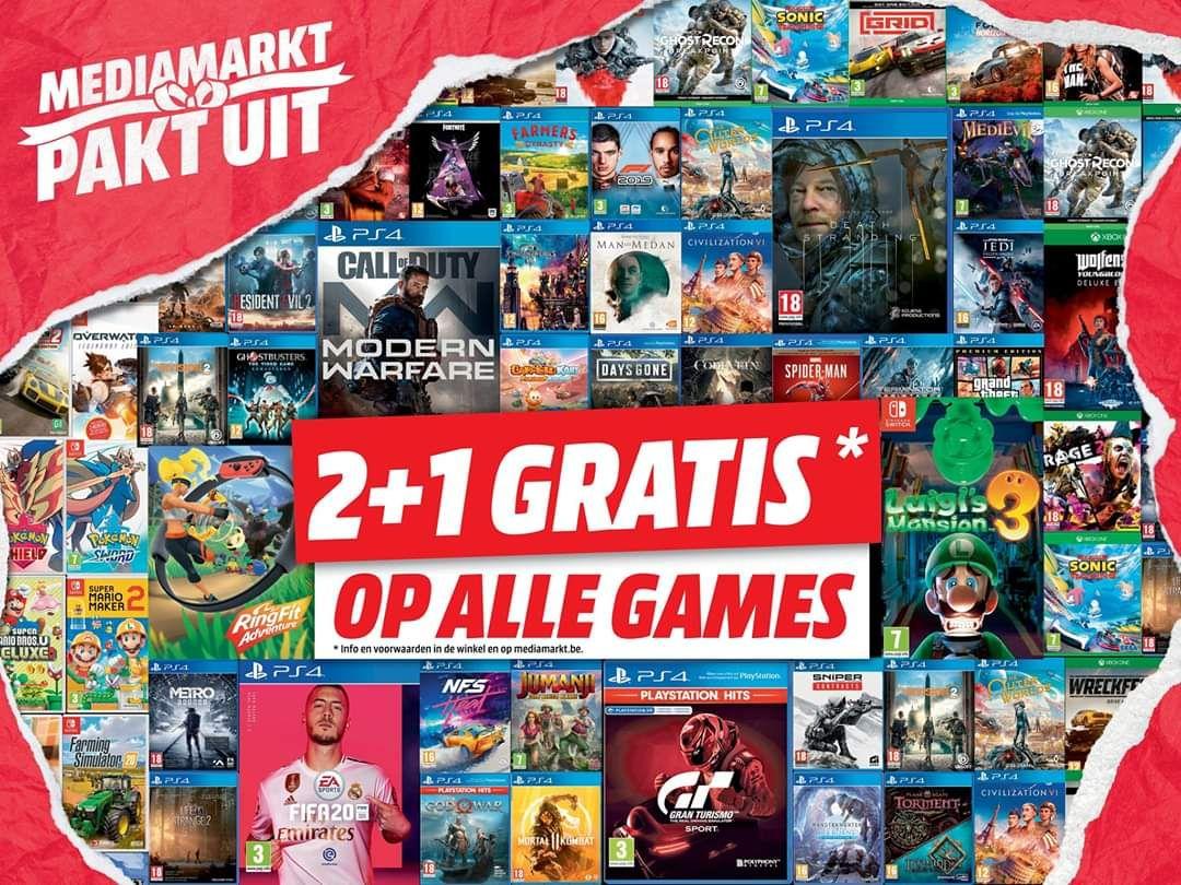 [Grensdeal België] Nintendo Switch Joycons, games Switch, Xbox, Playstation 2+1 gratis bij Mediamarkt