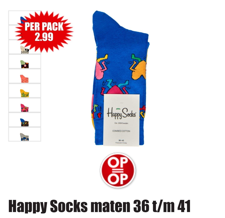 Happy socks in de aanbieding voor 2.99 bij supermarkt Dirk