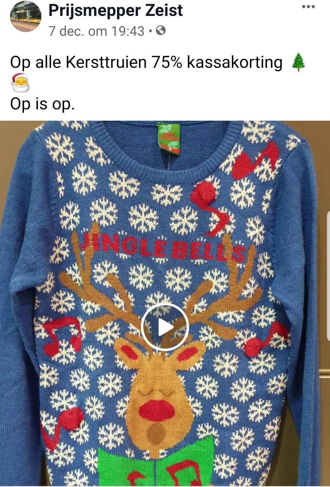 #Lokaal @ prijsmepper in Zeist 75% korting op (foute) kersttruien