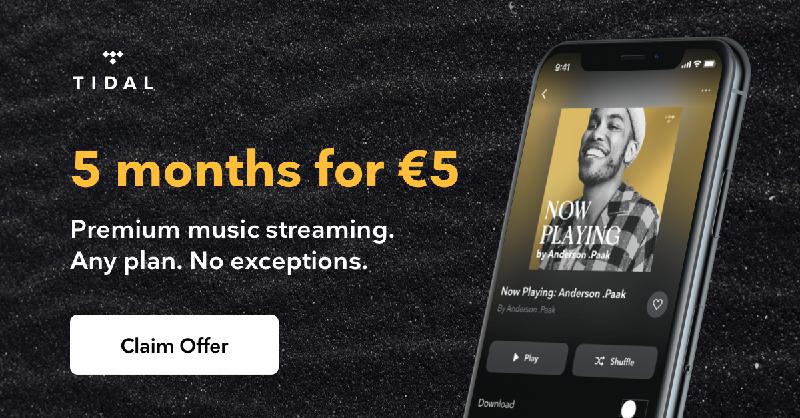 5 maanden TIDAL HiFi of Premium voor €5 (nieuwe gebruikers)