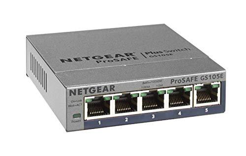 Netgear GS105E-300PES ProSafe Plus, voor €21,99 bij amazon.de