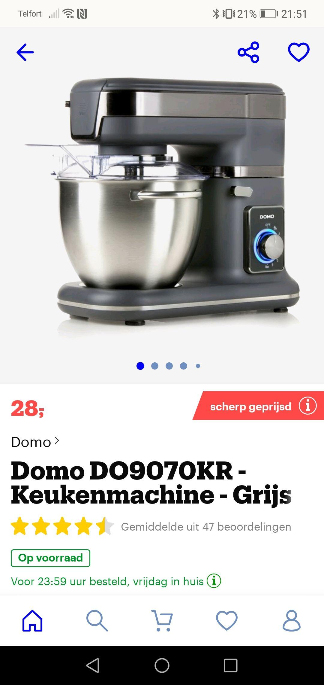 Prijsfout? Domo DO9070KR - Keukenrobot - Grijs