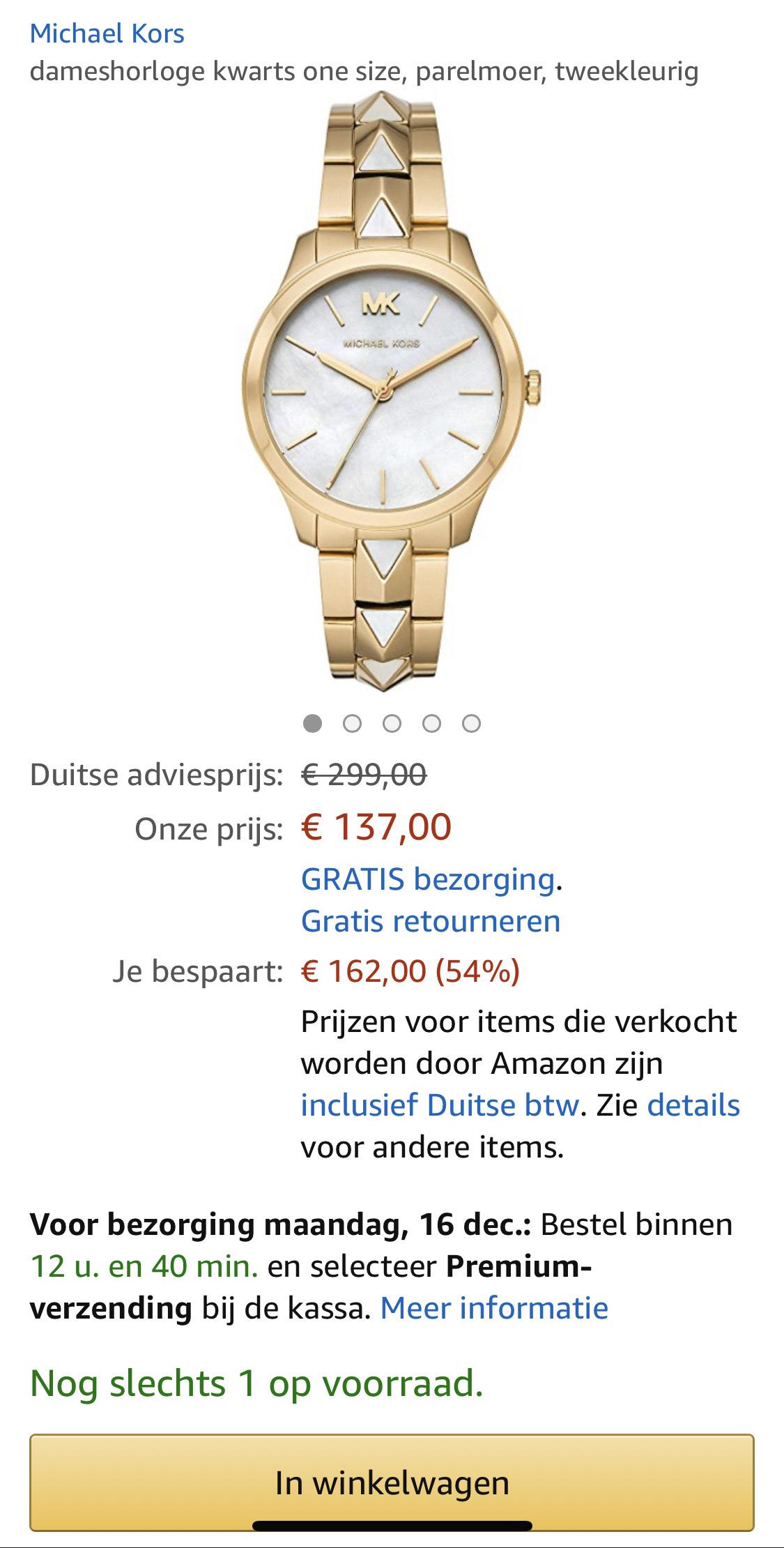 Michael Kors MK6689 Runway horloge