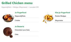 Grilled Chicken menu bij New York Pizza