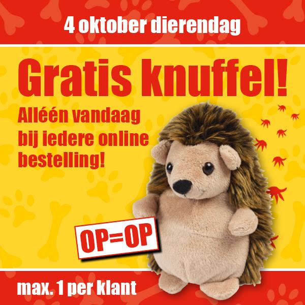 Alleen vandaag gratis egel knuffel bij iedere bestelling @ Kijkshop