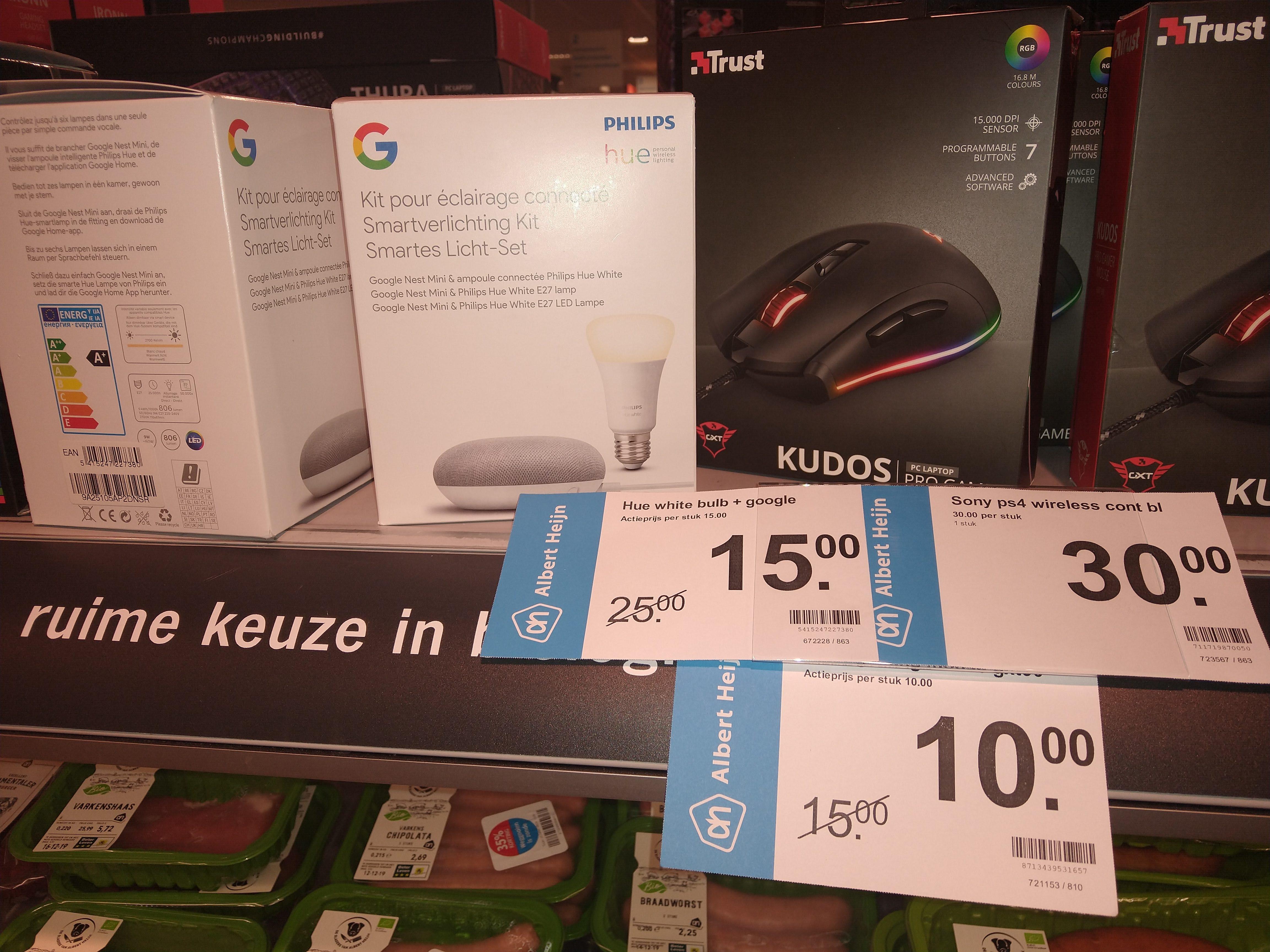 Waarschijnlijk lokaal, Albert Heijn Google Mini + Hue witte lamp
