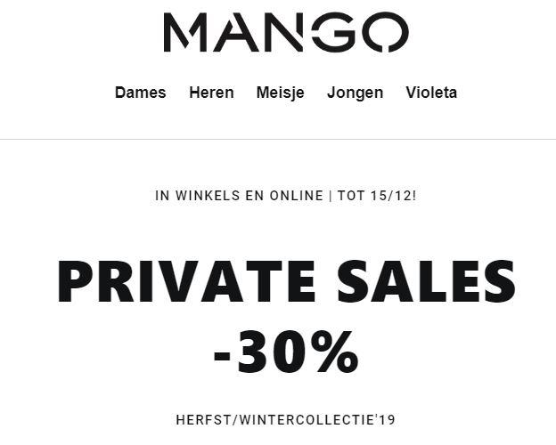 Met code 30% korting @ MANGO