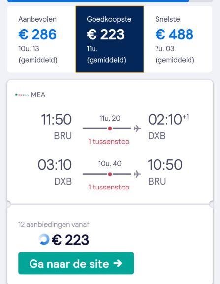 Bezoek Budapest + Dubai (€200) of alleen Dubai (€223) vanaf Brussel.