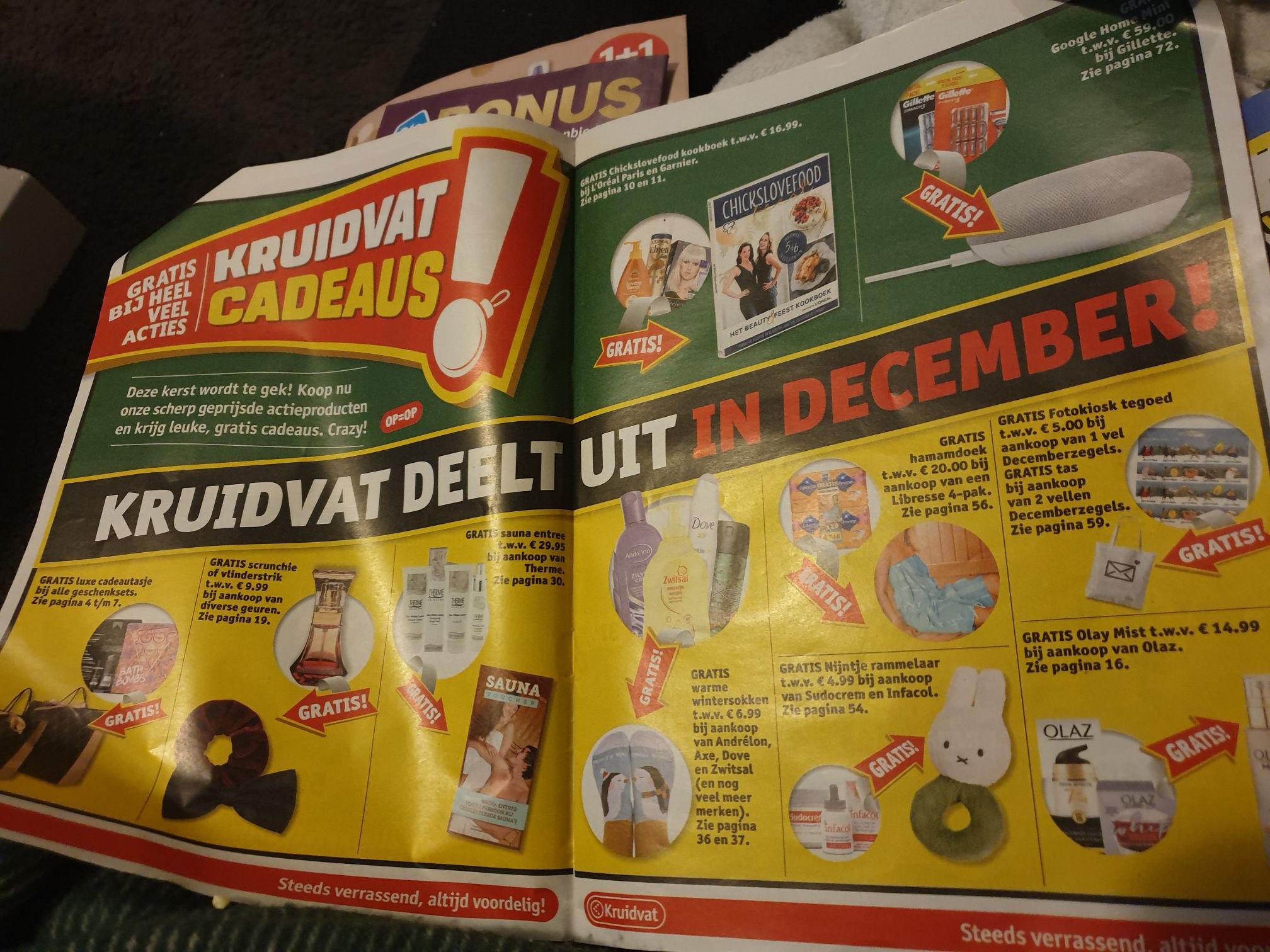Kruidvat deelt uit in december vanaf dinsdag