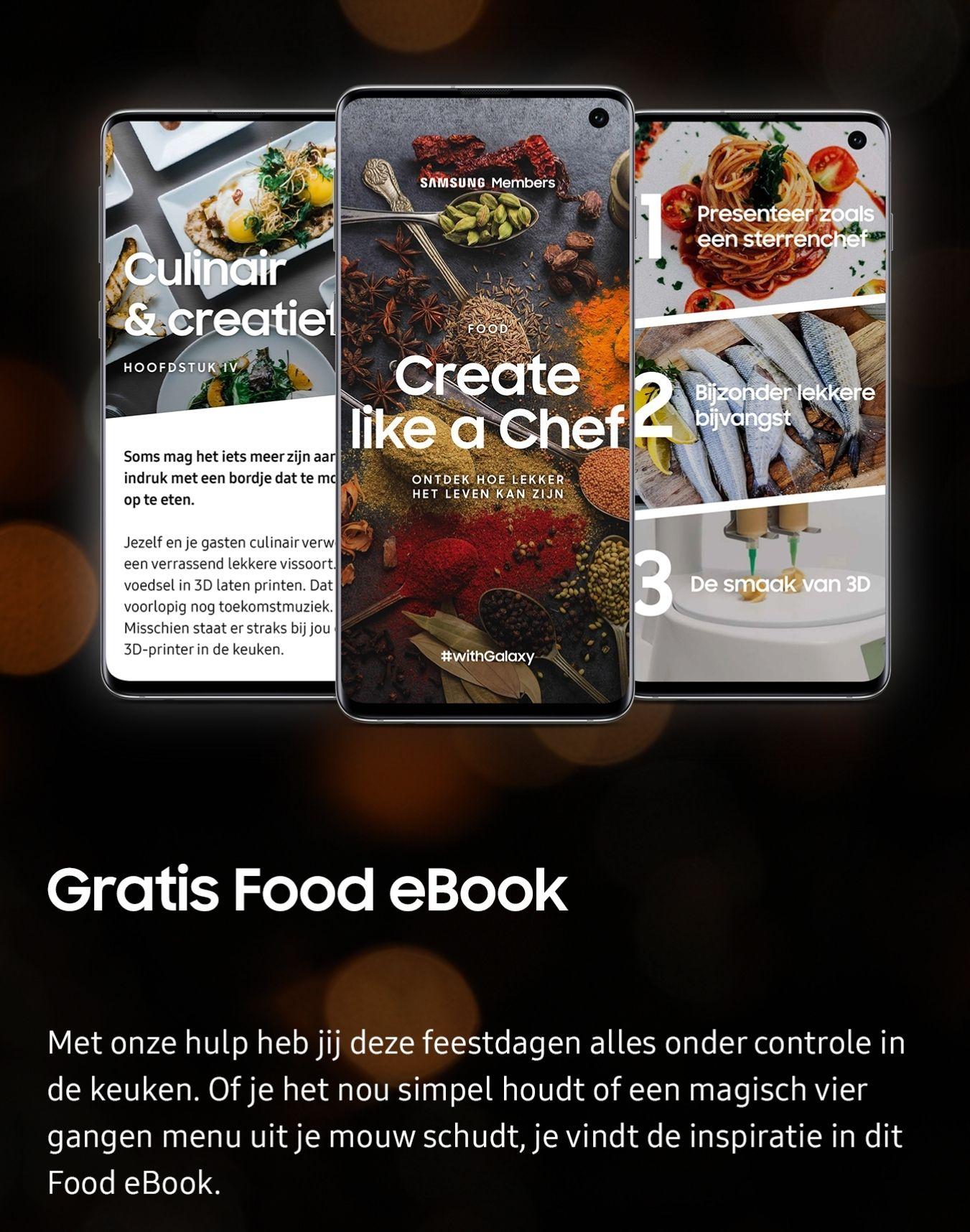 [Samsung members] Feestfood fotograferen? Download gratis food & fotografie ebook