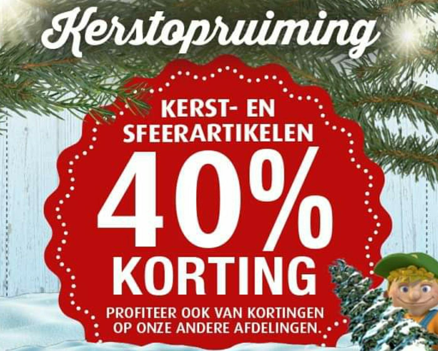 [Lokaal @ Denekamp] 40% korting *Kerstopruiming!* bij tuincentrum Oosterik