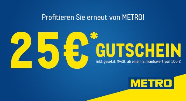 [Grensdeal] €25 korting bij €100 besteding (incl. btw) bij Metro Duitsland (Duitse Makro)