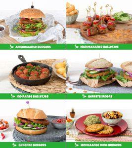 5 kilo vega burgers of vega balletjes €20 (thuisbezorgd) / 100 kilo verrassingspakket €100 (afhalen)