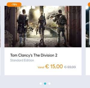 Ubisoft store sale, 30-80% korting op o.a. The Division 2 en RS Siege