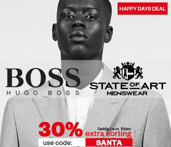 Hugo Boss & State of Art herenkleding 30% EXTRA korting @ Maison Lab