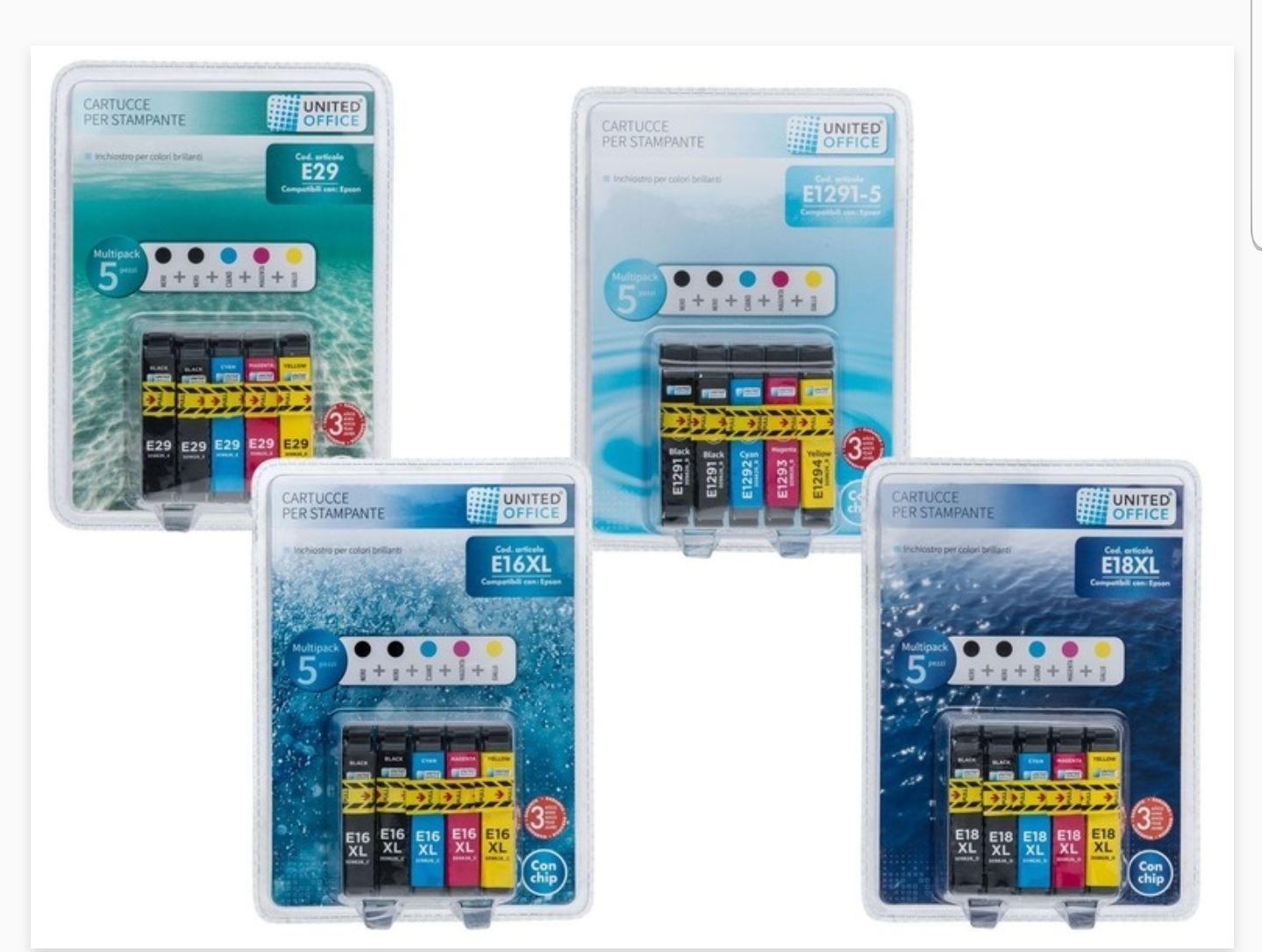 UNITED OFFICE® Epson cartridges multipack