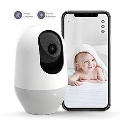 WLAN-camera, IP-camera Nooie 1080P 360 graden bewakingscamera, babyfoon met bewegingsvolger