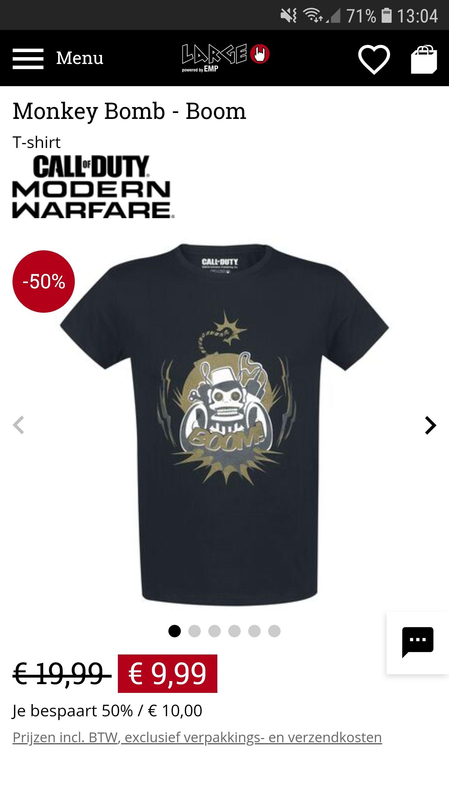 Cod Monkey Boom T-shirt