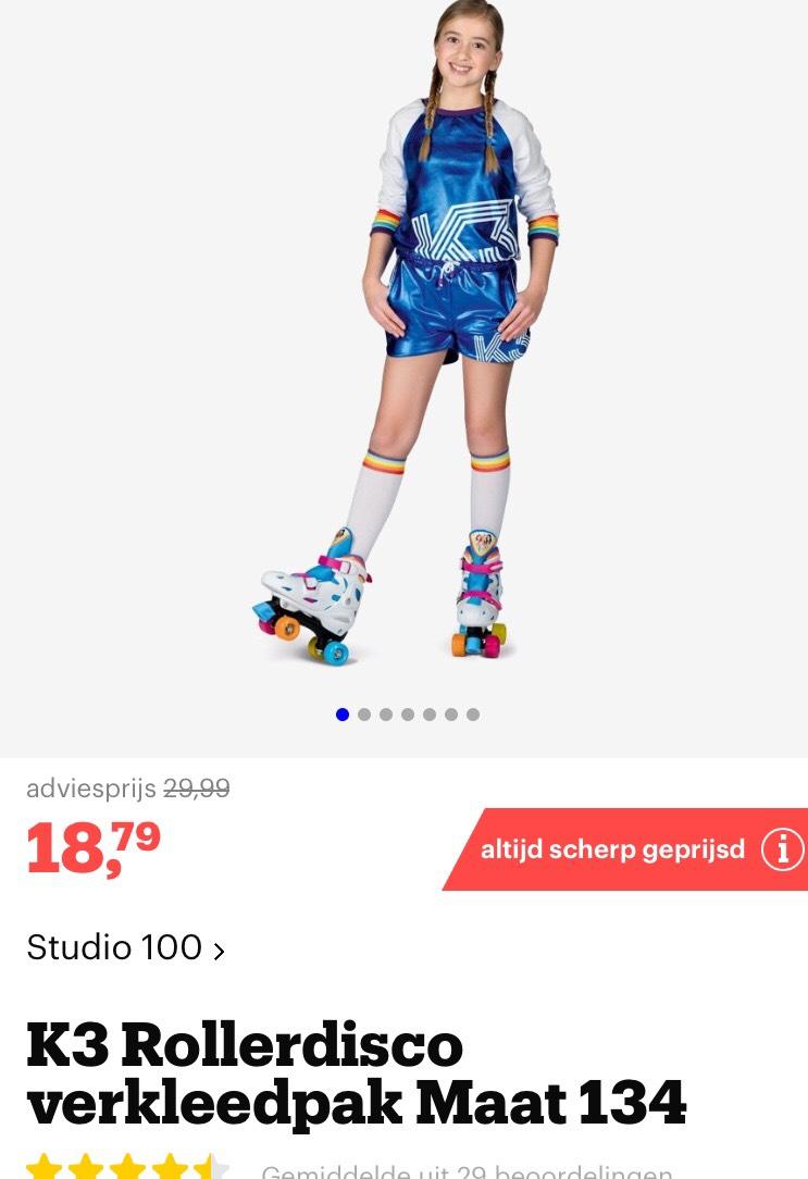 BOL.com K3 rollerdisco verkleed set met regenboog sokken