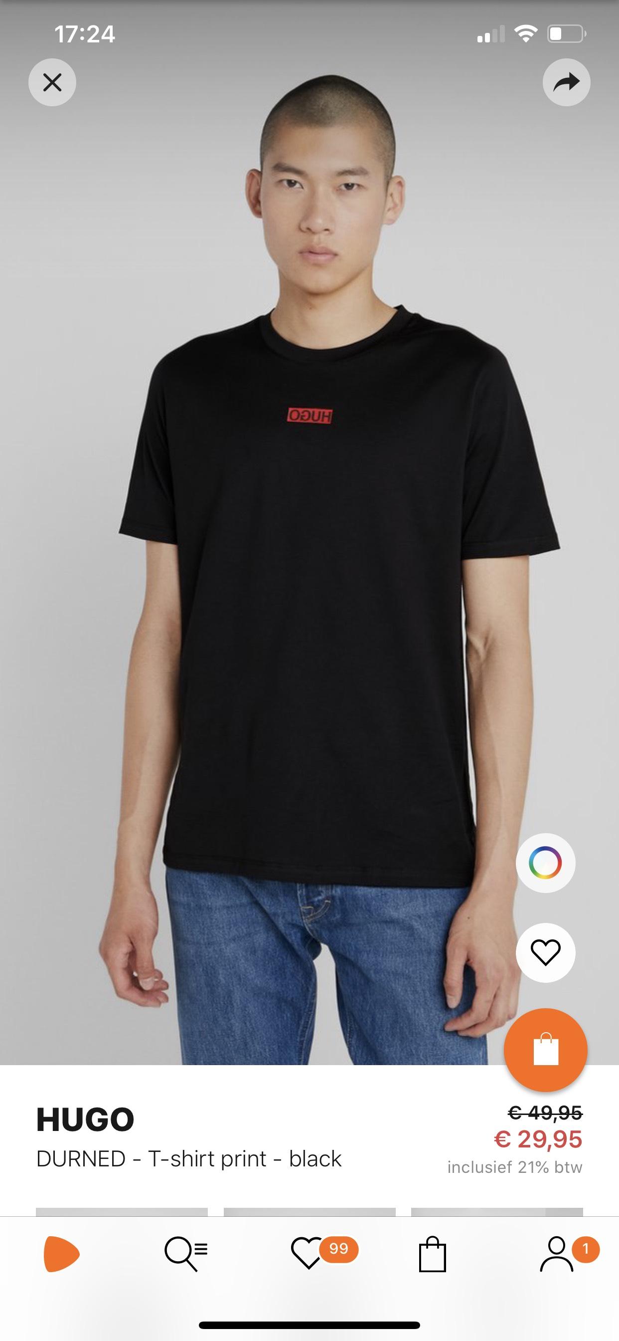 Hugo Boss shirt met 40% korting