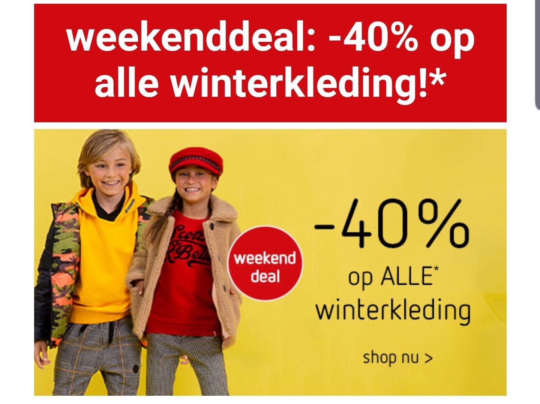 40% korting op alle winterkleding bij kleertjes.com