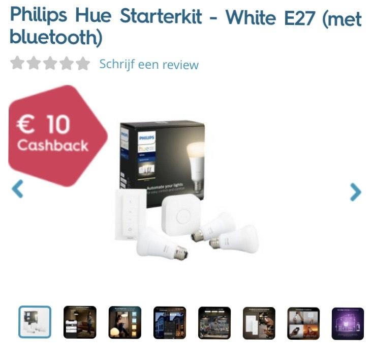 Philips Hue starterset met cashback