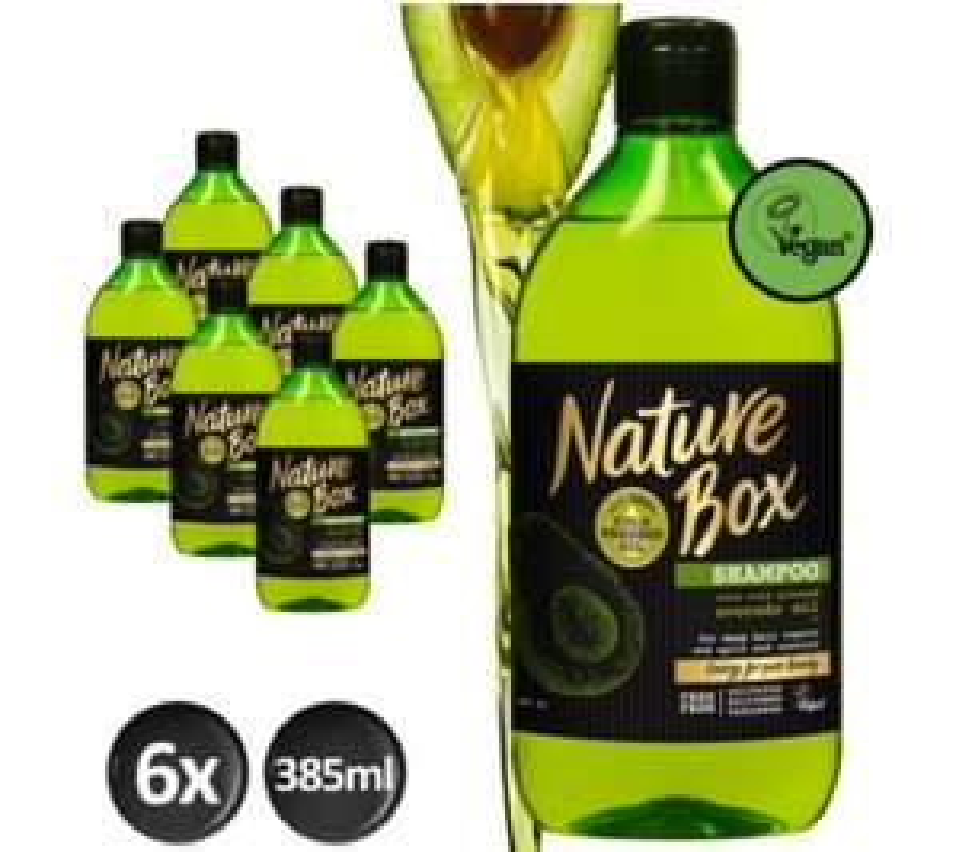 -50%: Nature Box Shampoo Avocado 6-pack (385ml)