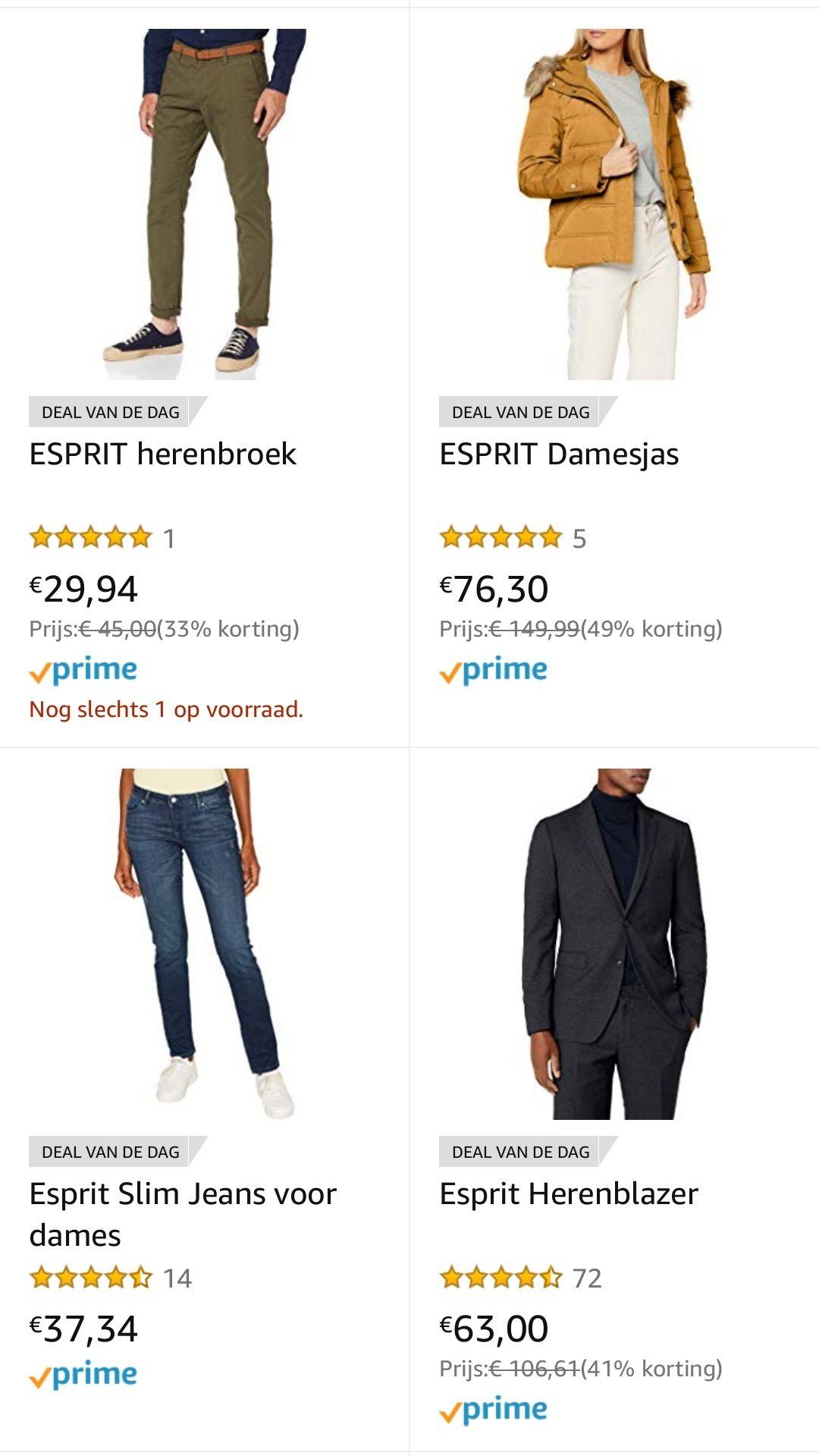 Esprit deals - kortstondig geldig