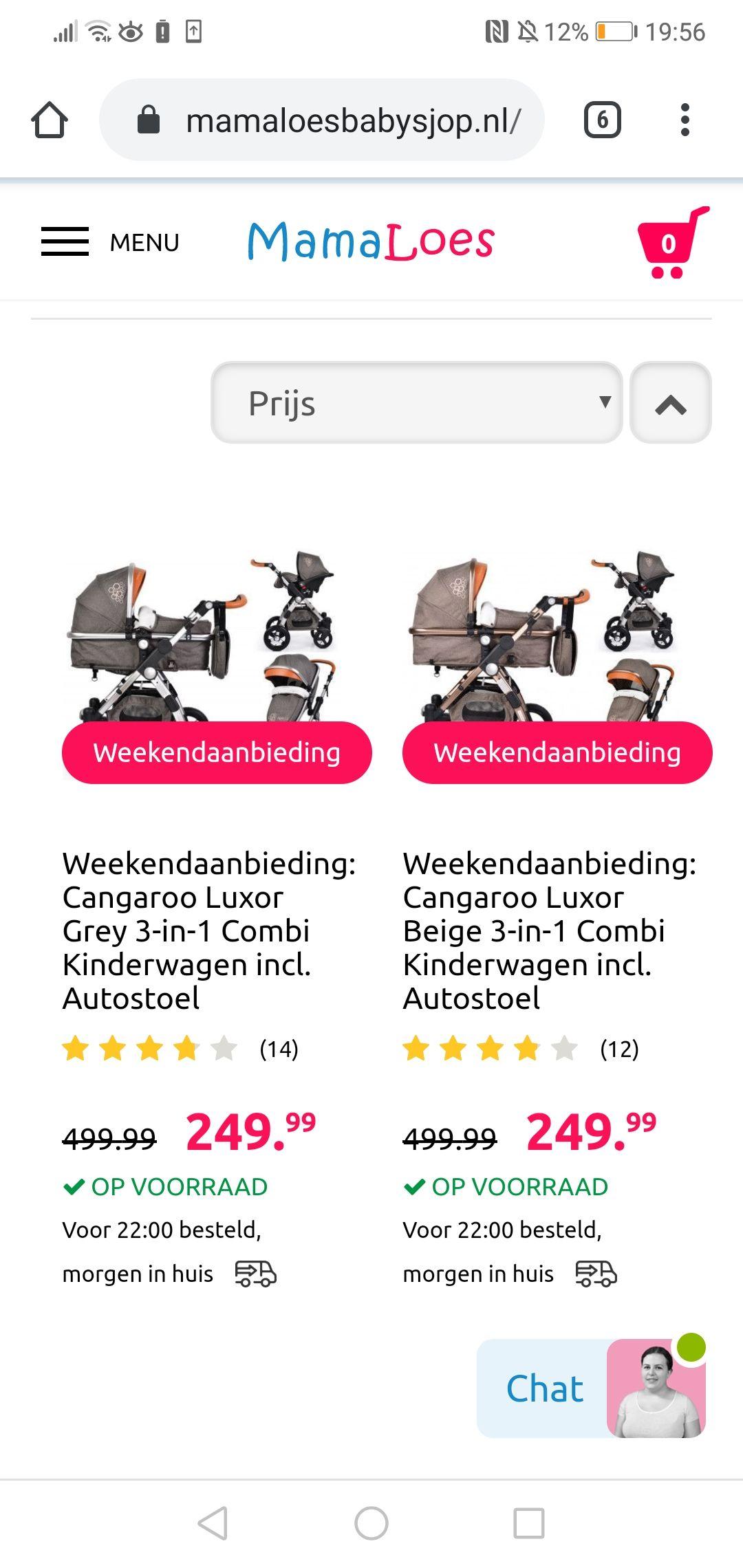 Cangaroo kinderwagen €250 euro korting!