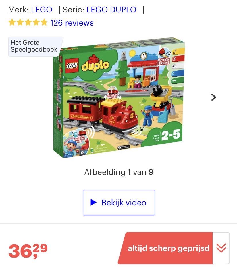 LEGO Duplo Trein Stoomtrein 10874