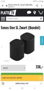 Sonos one sl duo pack - 169,- per stuk