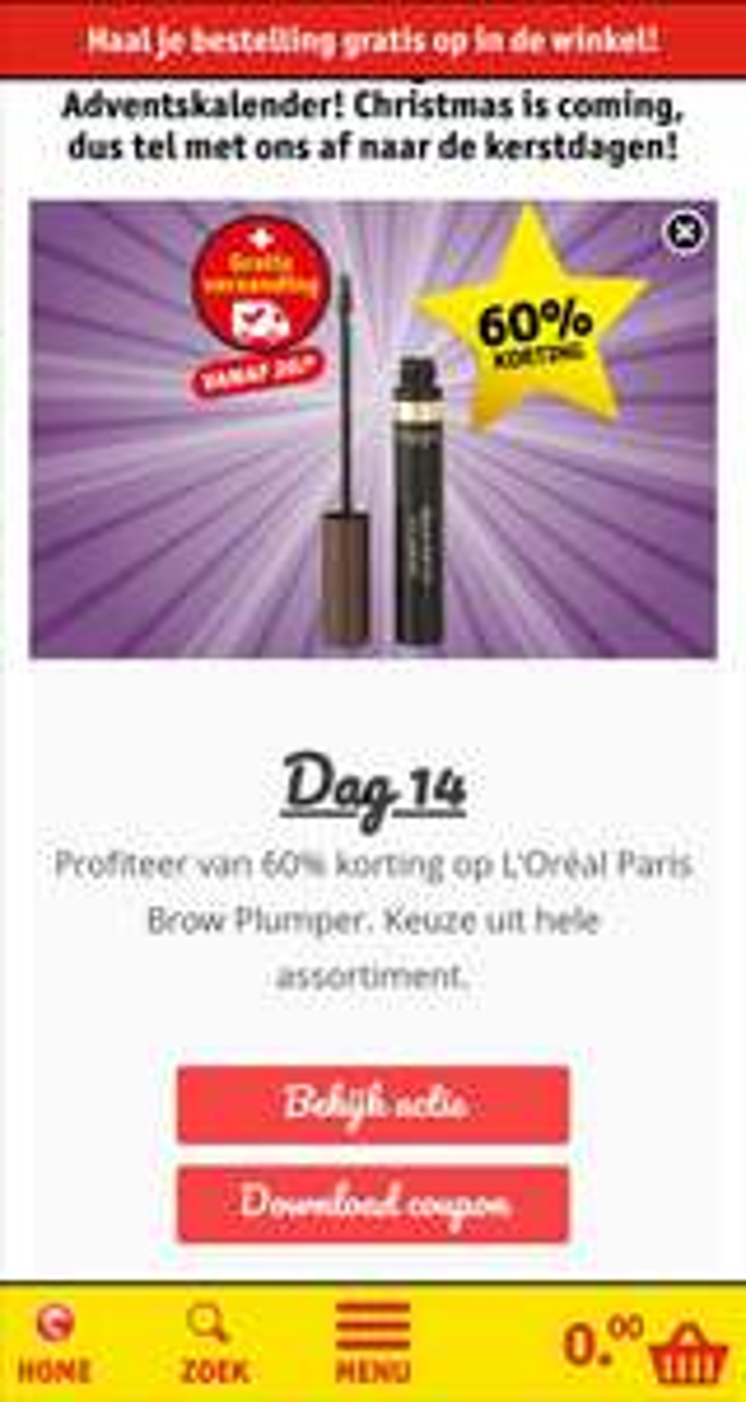 [DAGDEAL] L'Oréal Blow Pumper kruidvat 60% korting