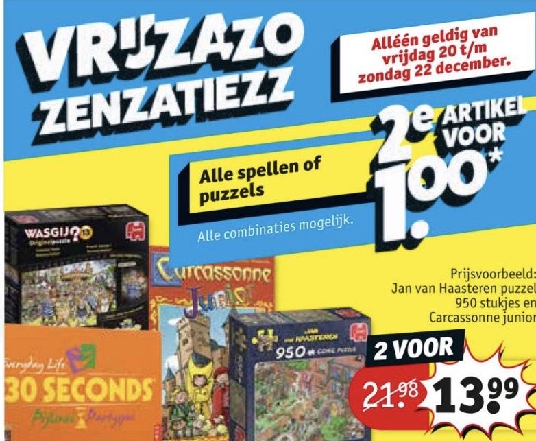 Spellen en puzzels 2e voor 1 euro