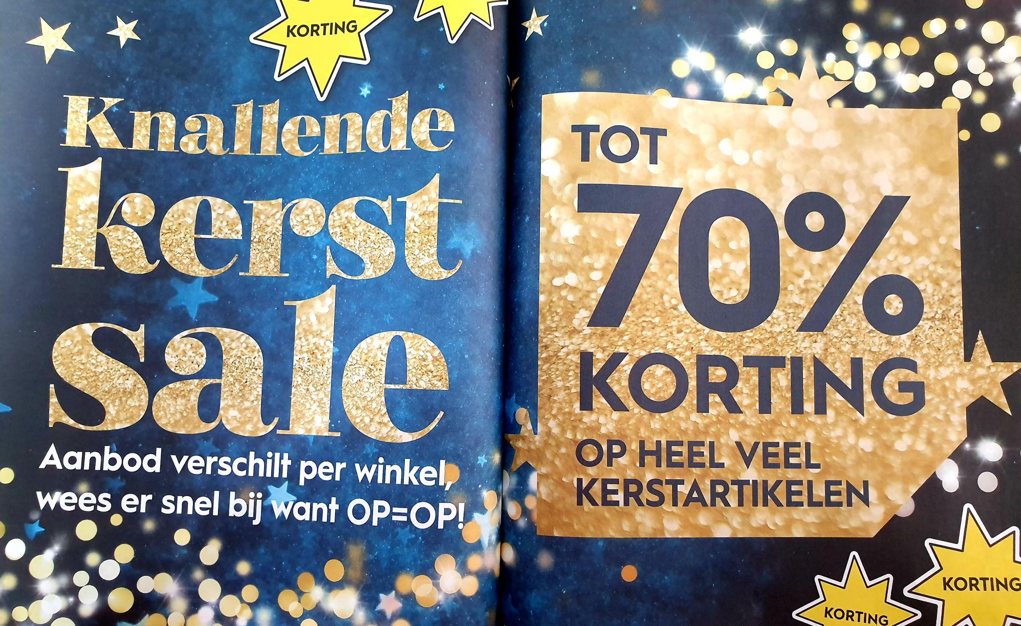 Kerst sale tot 70% korting bij Blokker
