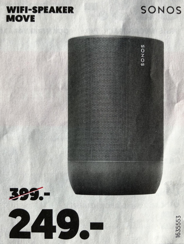 (Drukfout) Sonos Move @ MediaMarkt (249,- vanaf 16-12)