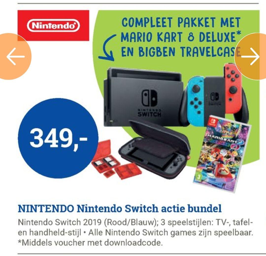 Nintendo switch met mario kart en opberghoes
