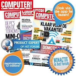 Jaarabonnement  Computer!Totaal voor € 19,95 + (kans op) laptoptas @ iBOOD