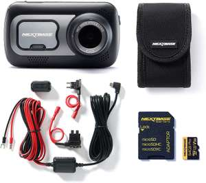 Nextbase 522GW Full 1080p HD In Car Dash Cam Camera Bundle Kit with Mount, Hardwire Kit, 64GB SD Card and case included