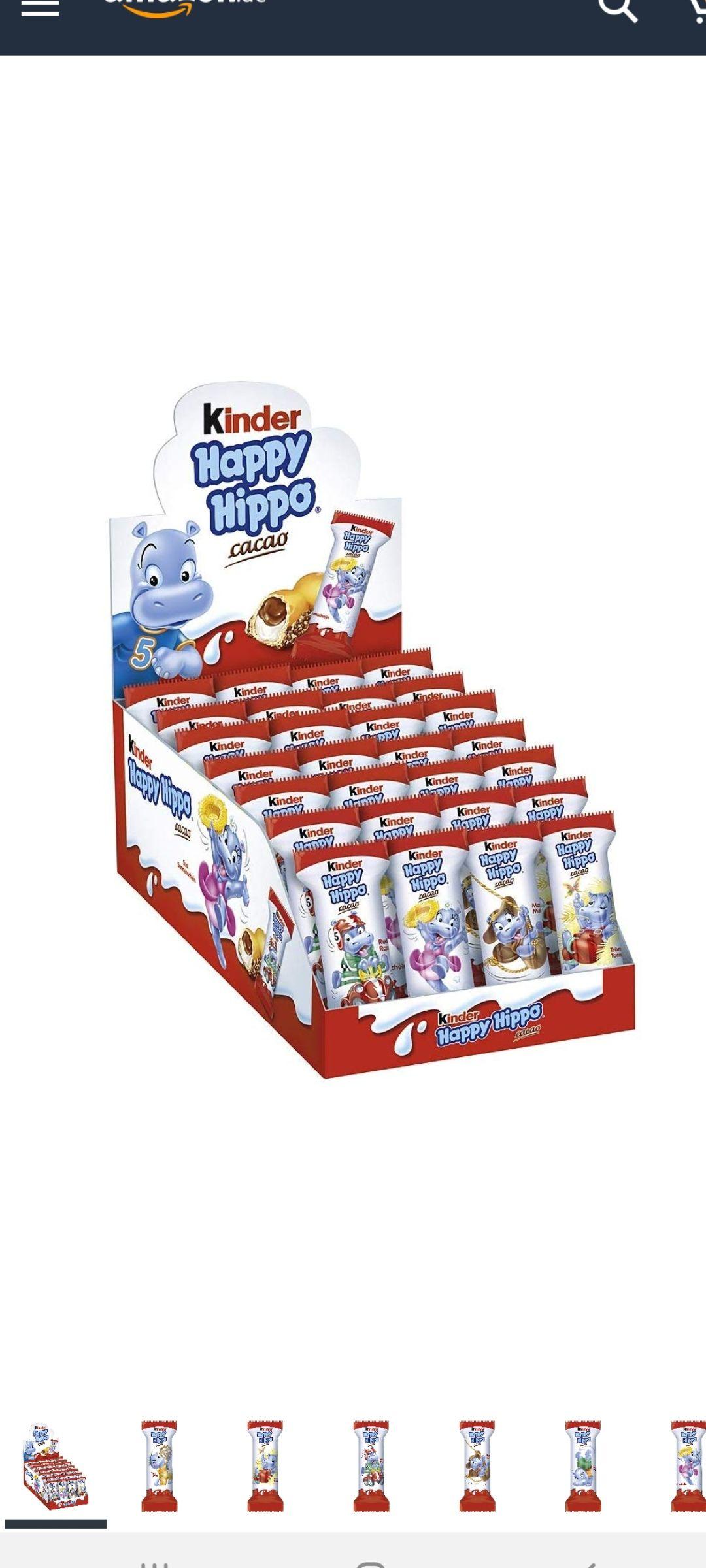 Happy Hippo kinderchocolade (En overige soorten kinderchocolade)