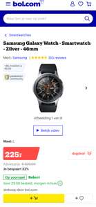 Samsung Galaxy Watch - Smartwatch - Zilver - 46mm +JBL headset t.w.v. 49.99