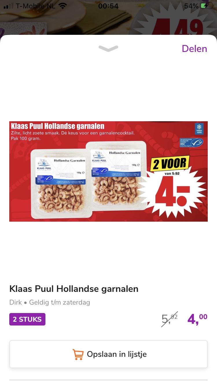 200 gram Hollandse garnalen bij Dirk