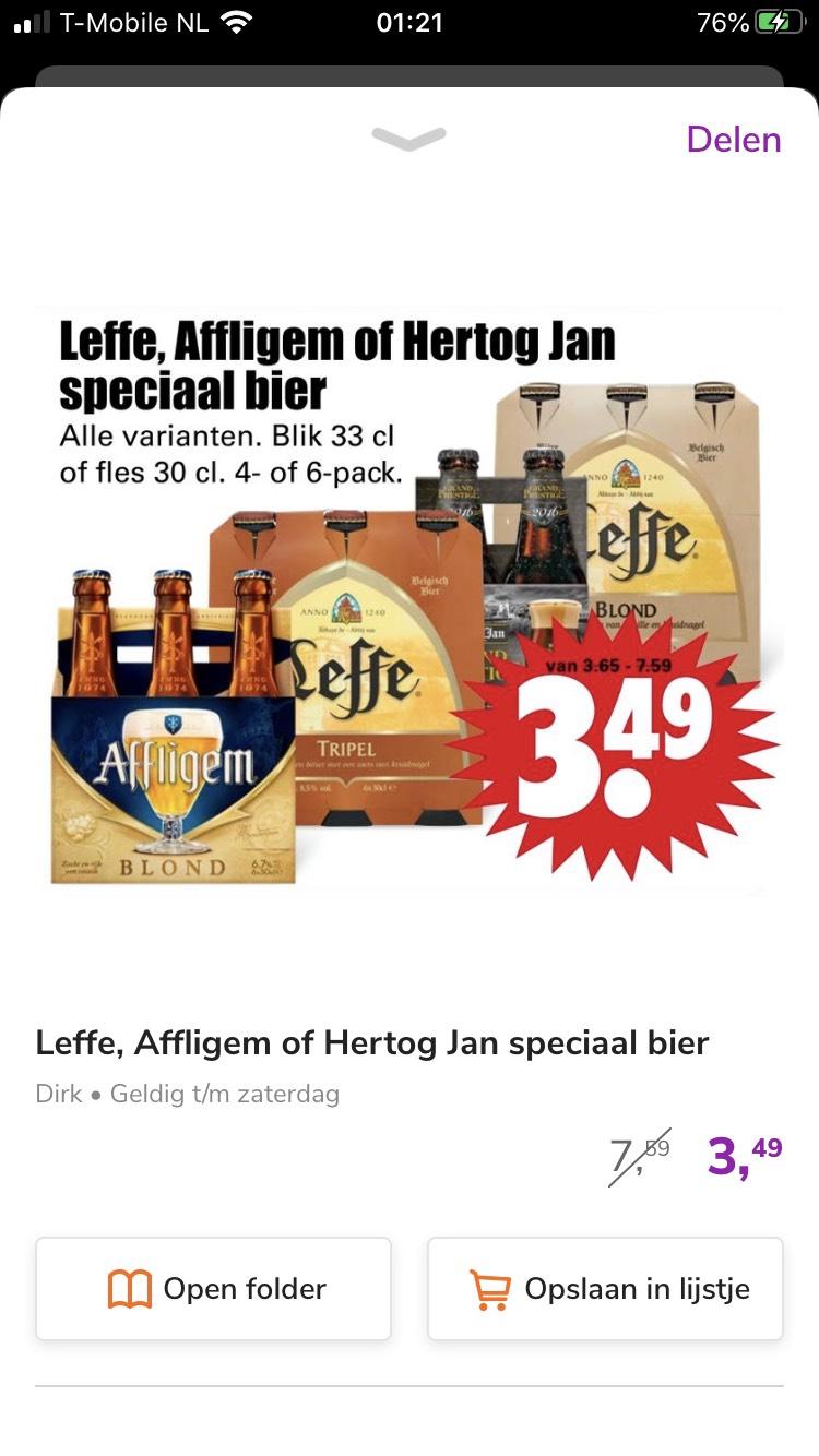 Alfigem/Leffe/Hertog Jan speciaal bier 6packs