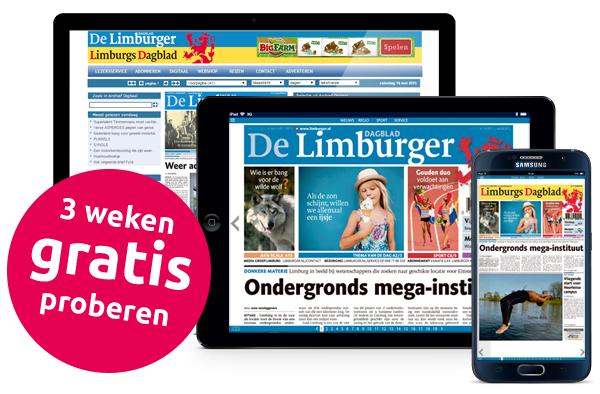 3 weken gratis De Limburger (krant + digitaal)