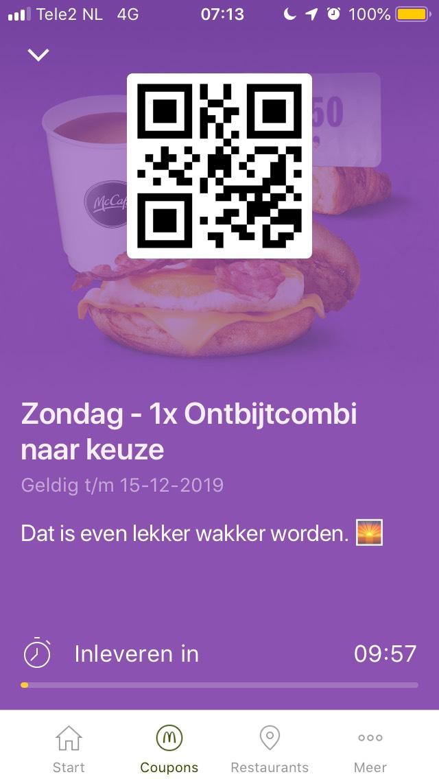 Ochtendeal McDonald's: Ontbijtcombi voor €1,50