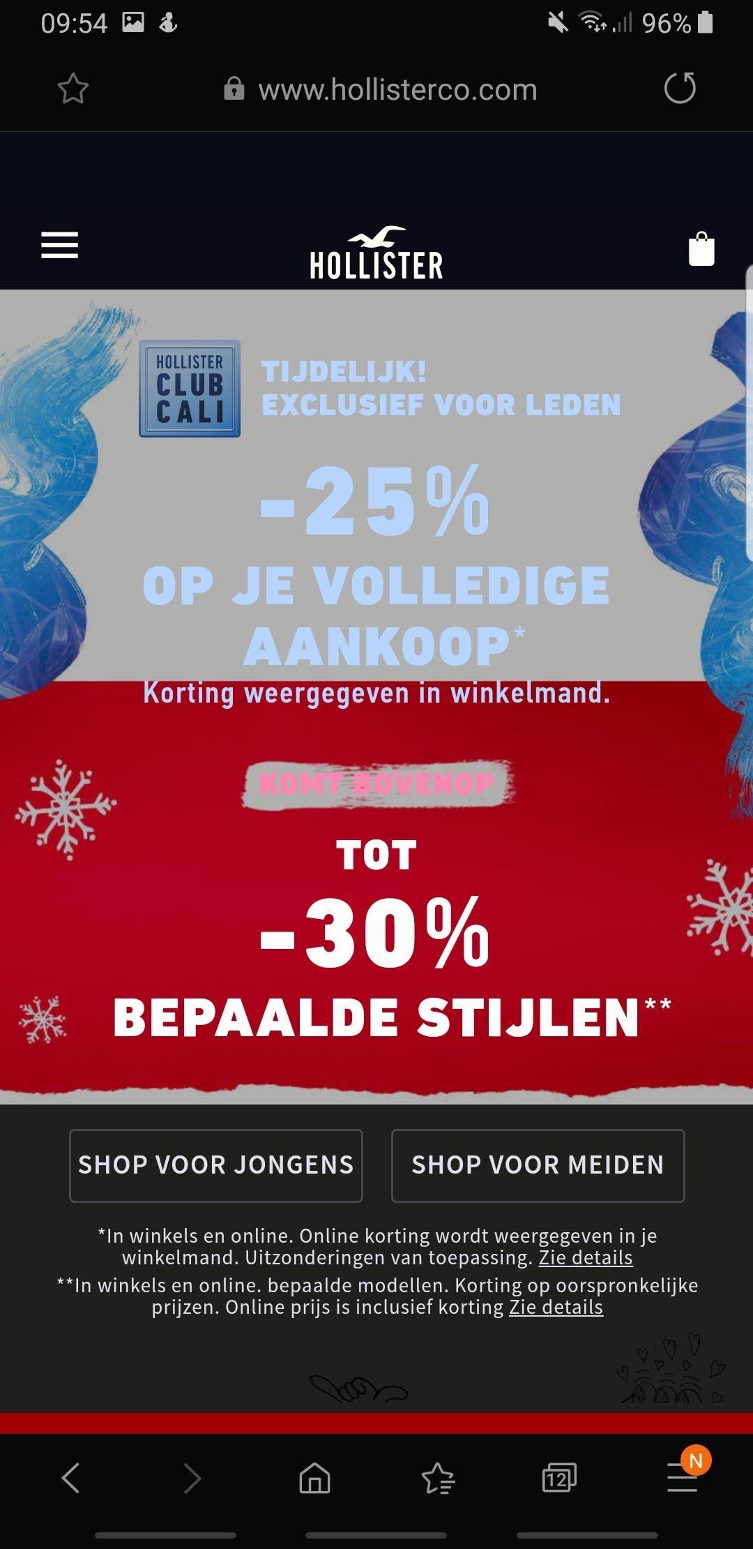 25% extra korting bovenop sale prijzen!